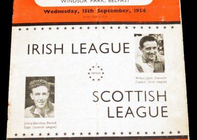 Irish League v Scottish League 15.09.1954