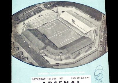 Arsenal v Manchester City 01.12.1962