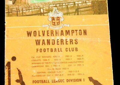 Wolverhampton Wanderers v Manchester City 22.03.1958
