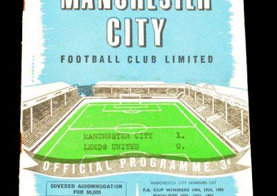 Leeds United v Manchester City 29.03.1958