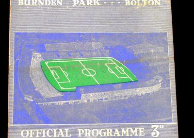 Bolton Wanderers v Manchester City 05.04.1958