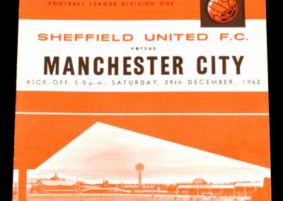 Sheffield United FC v Manchester City 29.12.1962 | Postponed