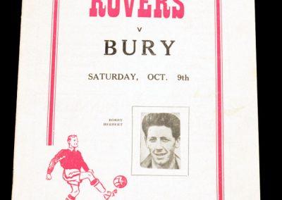 Doncaster Rovers v Bury 09.10.1954