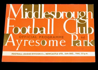 Middlesbrough v Newcastle United 26.12.1964