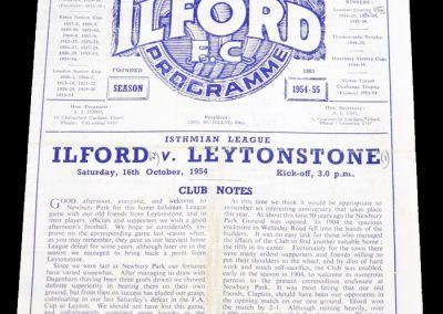 Ilford v Leytonstone 16.10.1954