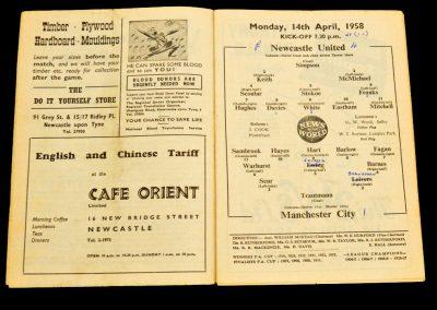 Newcastle United v Manchester City 14.04.1958
