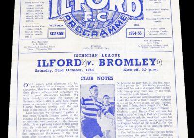 Ilford v Bromley 23.10.1954