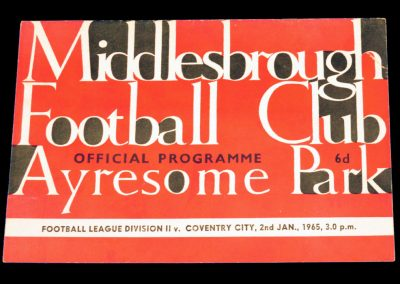Coventry City v Middlesbrough 02.01.1965