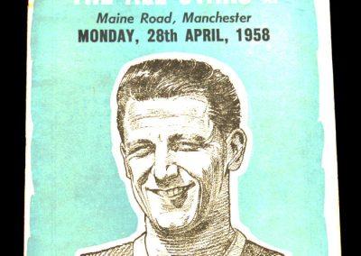 The All Stars XI v Manchester City 28.04.1958