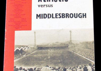 Charlton Athletic v Middlesbrough 30.01.1965 | FA Cup 4th Round