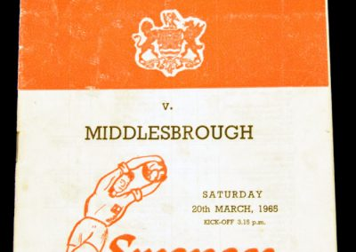Swansea Town v Middlesbrough 20.03.1965