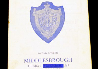 Huddersfield Town v Middlesbrough 30.03.1965
