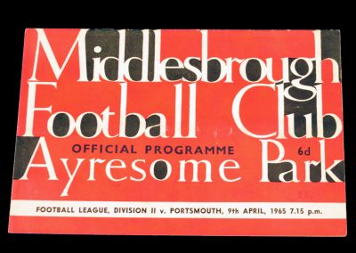 Portsmouth v Middlesbrough 09.04.1965