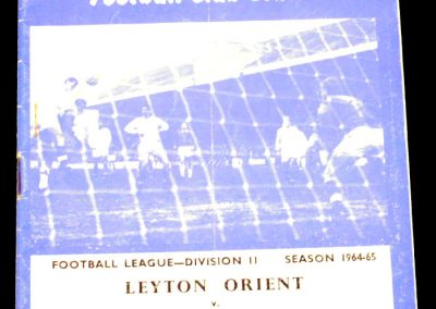 Leyton Orient v Middlesbrough 16.04.1965