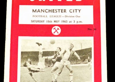 West Ham United v Manchester City 18.05.1963
