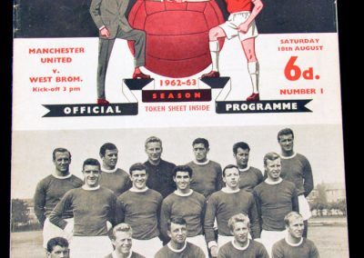 West Bromwich Albion v Manchester United 18.08.1962