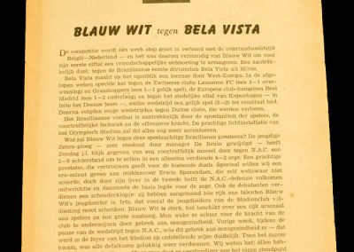 Amsterdam v Bela Vista FC | 6-0 | 25.09.1958 | FC tour of Europe