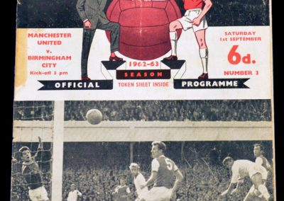 Birmingham City v Manchester United 01.09.1962