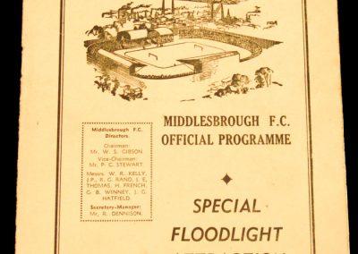 Middlesbrough FC v Bela Vista FC | 4-0 | 06.10.1958 | Tour of Europe