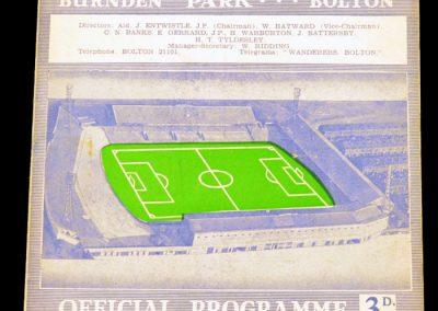 Bolton Wanderers v Manchester United 05.09.1962