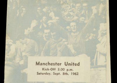 Leyton Orient v Manchester United 08.09.1962