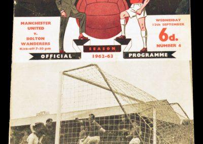 Bolton Wanderers v Manchester United 12.09.1962