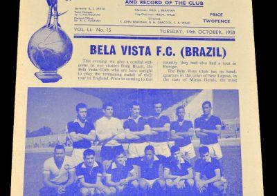 Tottenham Hotspur v Bela Vista FC | 3-1 | 14.10.1958 | Tour of Europe