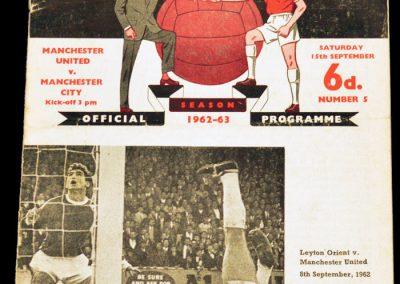 Manchester City v Manchester United 15.09.1962