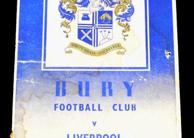Bury FC v Liverpool 12.03.1955