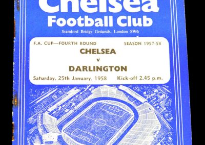 Chelsea v Darlington 25.01.1958 | FA Cup 4th Round