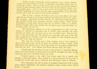 Chelsea v Darlington FC 29.01.1958 | FA Cup 4th Round replay