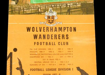 Wolverhampton Wanderers v Darlington FC 15.02.1958 | FA Cup 5th Round
