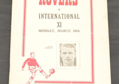 Doncaster Rovers v International XI 28.03.1955
