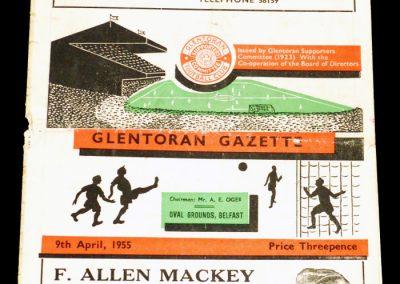 Glentoran v Ballymena 09.04.1955