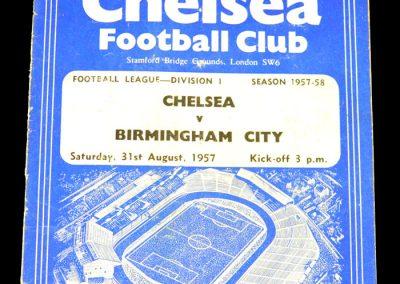 Birmingham City v Chelsea 31.08.1957