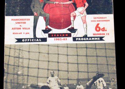 Aston Villa v Manchester United 24.11.1962