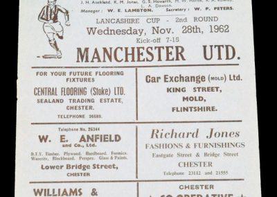 Manchester United v Chester 28.11.1962