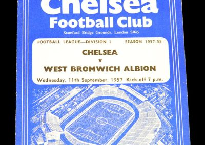 West Bromwich Albion v Chelsea 11.09.1957