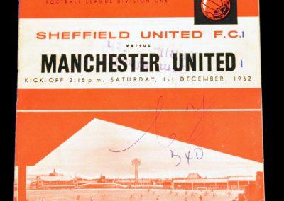 Sheffield United v Manchester United 01.12.1962