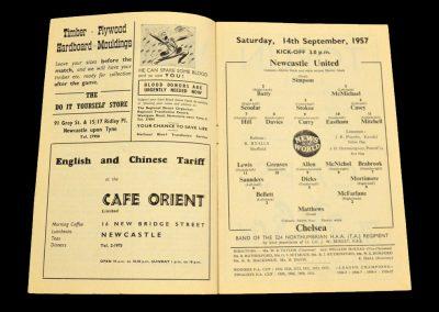 Newcastle United v Chelsea 14.09.1957