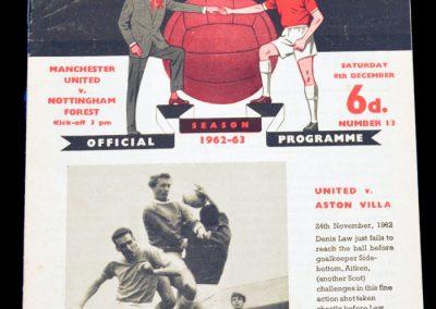 Nottingham Forest v Manchester United 08.12.1962
