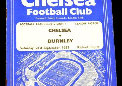 Burnley v Chelsea 21.09.1957