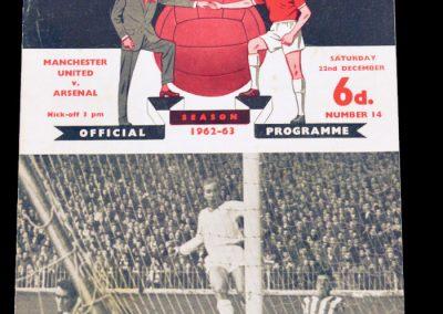 Arsenal v Manchester United 22.12.1962   Abandoned