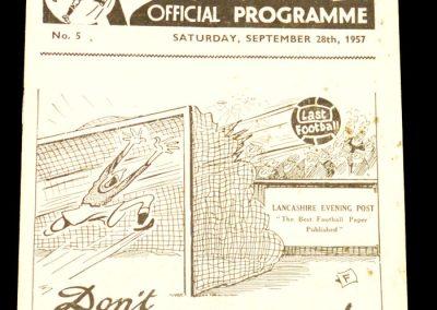 Preston North End v Chelsea 28.09.1957