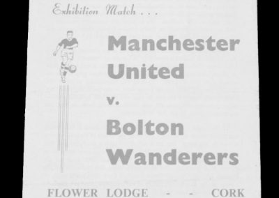 Manchester United v Bolton Wanderers 13.02.1963 | Friendly played in Cork for match practise during the Big Freeze