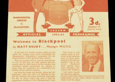 Blackpool v Manchester United 23.02.1963