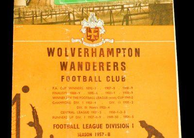 Wolverhampton Wanderers v Chelsea 19.10.1957