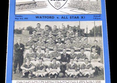 Watford v All Stars XI 03.05.1955