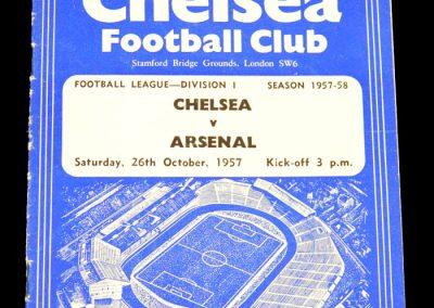 Arsenal v Chelsea 26.10.1957