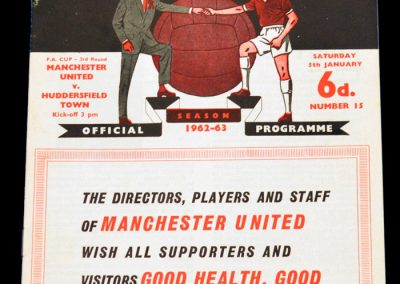 Huddersfield Town v Manchester United 05.01.1963 | FA Cup 3rd Round | Postponed